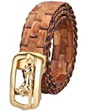 Menschwear Mens & Womens Adjustable Yellow Pear Wooden Belt Handmade 120CM