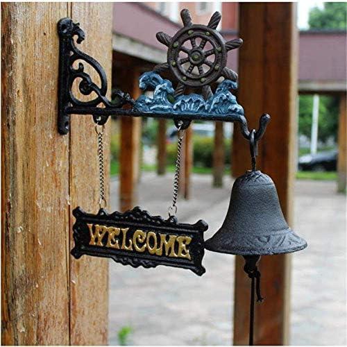 アンティークドアベル壁時計錬鉄アンカー装飾ドアベルガーデンアンティークスタイルクリエイティブクラシックディナーベル