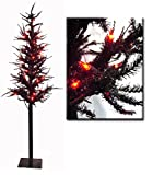 Vickerman 6' Pre-Lit Blackstone Artificial Halloween Tree - Orange Lights