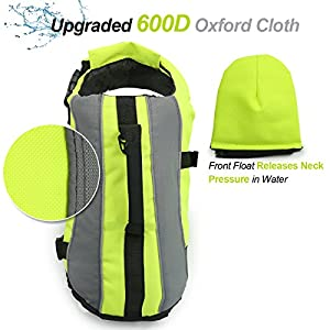 Vivaglory Dog Life Jackets with Extra Padding for Dogs, X-Small - Extra Reflective Yellow