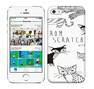 Best Power(Tm) HD Colorful Painted Watercolor Many Cats Hard Phone Case For Iphone 5/5S