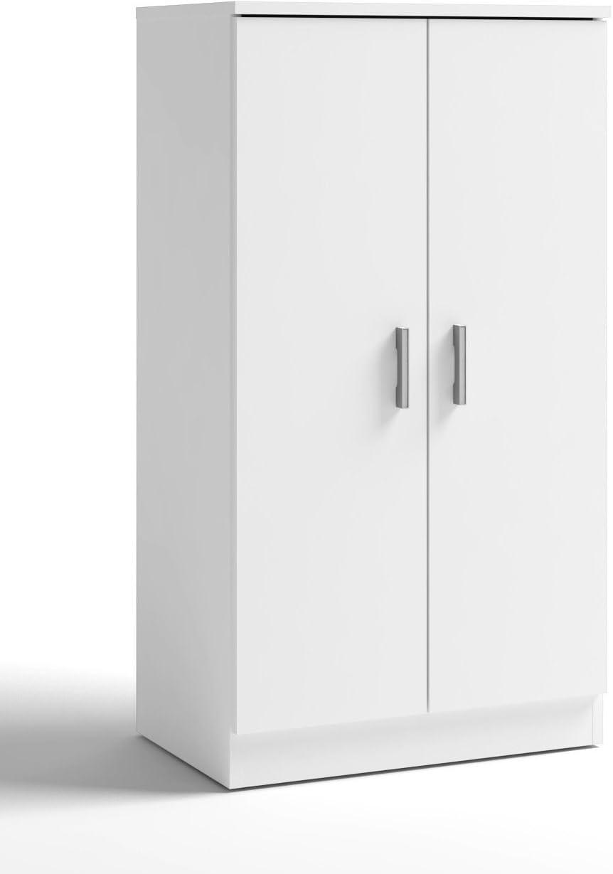 Armario Auxiliar Zapatero 2 Puertas Color Blanco Armario bajo con estantes Interiores 55x35x101 cm: Amazon.es: Hogar