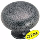 Amerock BP771-WI Traditional Classic Legacy Wrought Iron Round Cabinet Hardware Knob - 1-1/4 Diameter, 25 Pack by Amerock