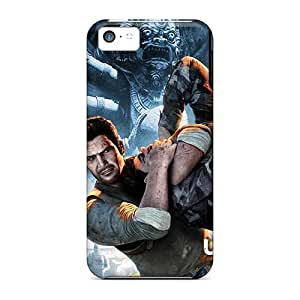 Durable Defender Case For Iphone 5c Tpu Cover(games Uncharted Ps)