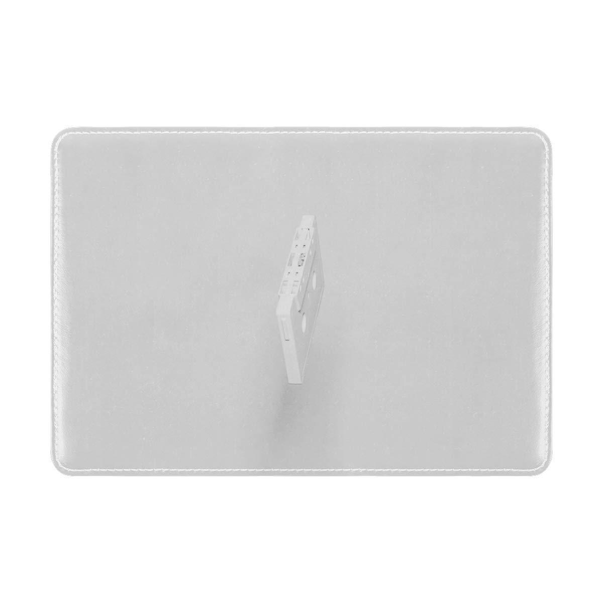 Audio Cassette Cassette White Leather Passport Holder Cover Case Travel One Pocket