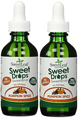 SweetLeaf Sweet Drops Liquid Stevia Sweetener, Pumpkin Spice 2 Oz (Pack of 2) by Sweetleaf