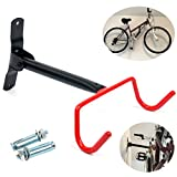 YaeTek Bike Wall Mount Rack Storage Hanger - Foldable Bicycle Holder Hook Folding Space Saver with Mounting Hardware for Garage to Dorm Room Good for Sport, Mountain, or Cruiser Bikes under 60 lbs