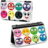 coque NEW 3DS XL Emoticones multi smile multicolor fun BD comics rose jaune vert bleu