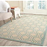 Cheap Safavieh Courtyard Collection CY6114-213 Beige and Aqua Indoor/ Outdoor Area Rug (5'3″ x 7'7″)