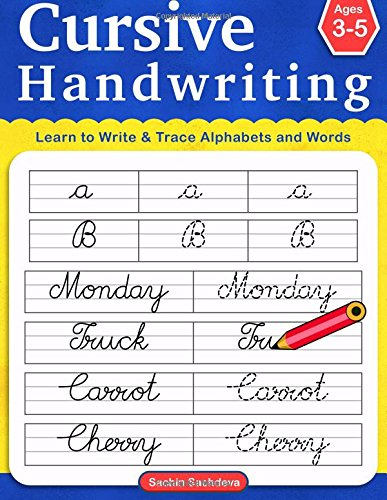 Cursive Handwriting: Learn to Write and Trace Alphabets & Words (Ages 3-5)