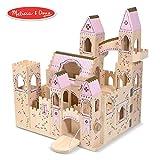 "Melissa & Doug Folding Princess Castle Wooden Dollhouse (Pretend Play Set, Drawbridge and Turrets, Sturdy Construction, 27"" H x 15.25"" W x 17.5"" L)"