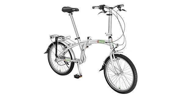 Beixo Bicicleta Plegable con cardan - Compact 7 Silver: Amazon.es ...