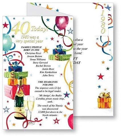 40 - Tarjeta de cumpleaños (Año 1975 fue un muy especial ...