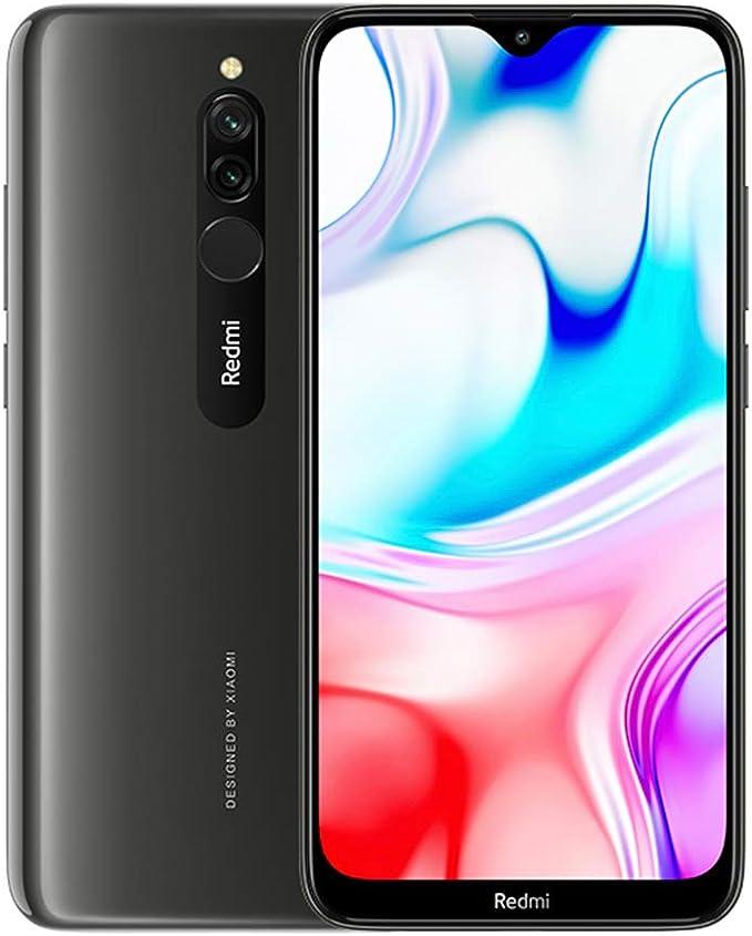 """Xiaomi Redmi 8 Smartphone, 3GB 32GB Mobilephone,6,22""""Pantalla Snapdragon 439 10W de Carga Rápida 5000mah de la Batería del Teléfono Móvil 12MP Cámara Dual,Versión Global (Negro): Amazon.es: Electrónica"""