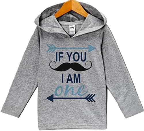 f035843a7 seller: 7 ate 9 Apparel. (5). Custom Party Shop Baby Boy's Novelty Mustache  Birthday Hoodie Pullover