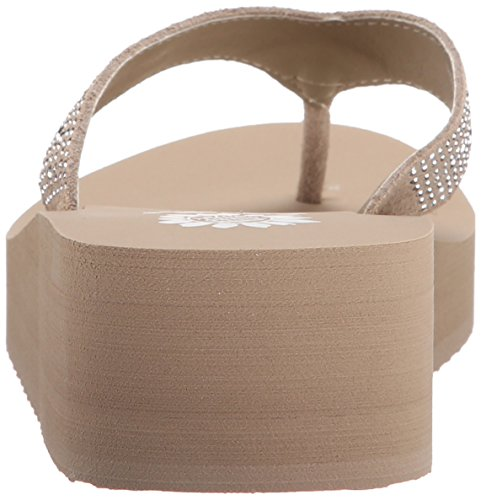 Yellow Sandal Flop Women's Africa Taupe Wedge Flip Box UwOqzZ
