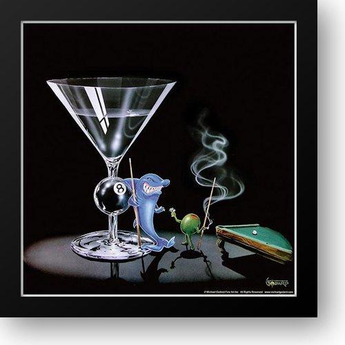 Pool Shark 16x16 Framed Art Print by Godard, Michael