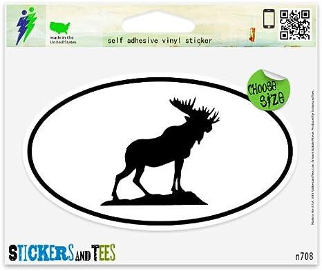 Moose Oval Car Vinyl Sticker SELECT SIZE