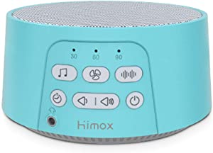 HIMOX White Noise Machine, Baby Sleep Sound Machine with 24 Soothing Nature Sounds for Sleeping & Relaxation, Portable Sleeping Therapy for Baby Kids, Porter of Nature's Voice(Green)