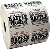 White Raffle Tickets : roll of 1000