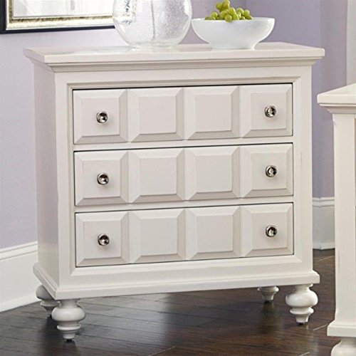 American Drew Lynn Haven 3 Drawer Wood Bachelor's Chest in White -