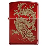 "Zippo ""Oriental Dragon"" Candy Apple Red Lighter, 8894"