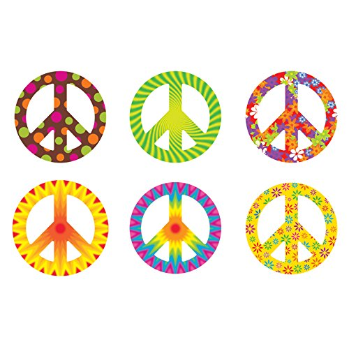 TREND enterprises, Inc. T-10983BN Peace Signs Patterns Classic Accents Variety Pack, 36 Per Pack, 6 Packs