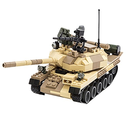 372pcs DIY Assembly T-62 Battle Tank Blocks Building Construction Bricks Tank Model Toy with Minifigures for Child 6+