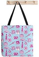 "Kimono Girl Durable Canvas Shoulder Shopping Tote Bag By Marika Sorimachi 16"" x 16"""