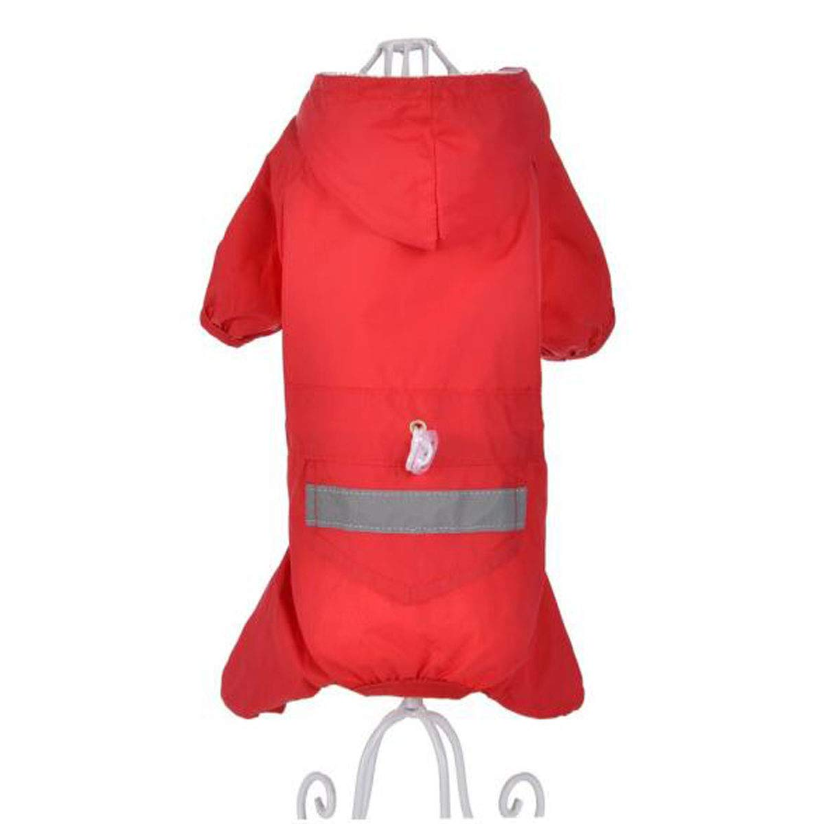 Red MPet Dog Clothes, Small Dogs, FourLegged Waterproof Clothing (color   Red, Size   M)