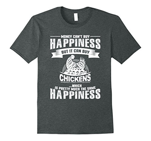Mens Chickens Equal Happiness Chicken Lovers T Shirt Medium Dark Heather