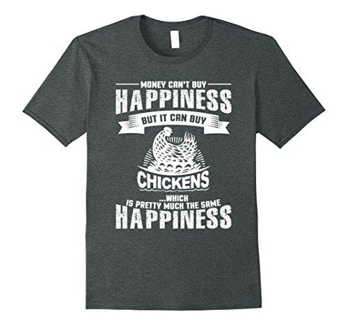 Mens Chickens Equal Happiness Chicken Lovers T Shirt Medium Dark Heather