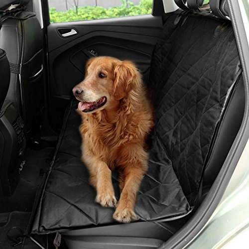 (Fashine Waterproof Non Slip Pet Seat Cover with Hammock for Cars,Trucks and Suv,Black[US Stock])
