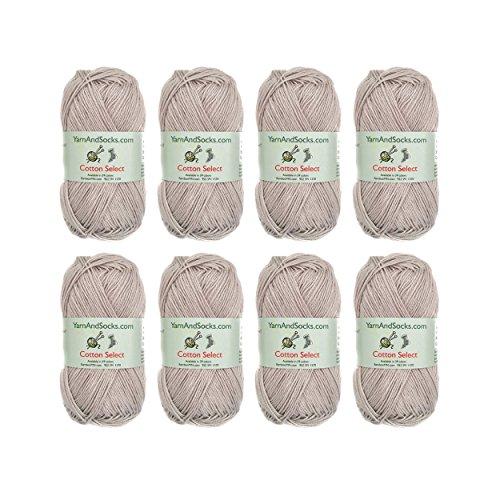 Cotton Select Sport Weight Yarn - 100% Fine Cotton - 8 Skeins - Col 110 - Vapor Grey