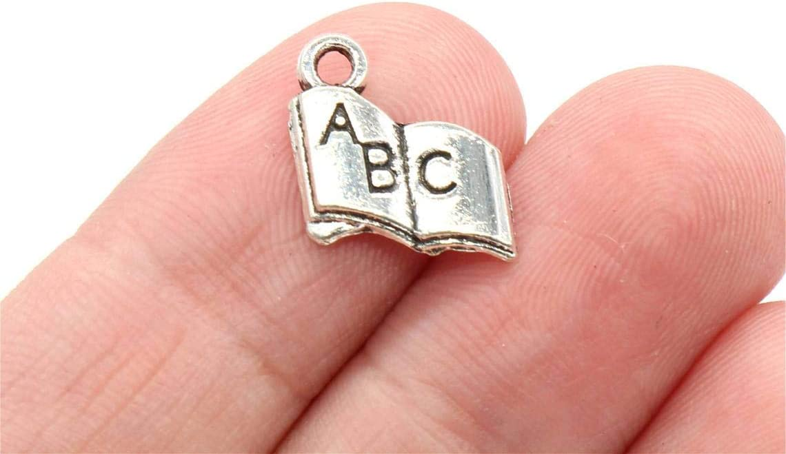 BULK 50 Heart in Hand Charms Antique Silver Tone SC1693