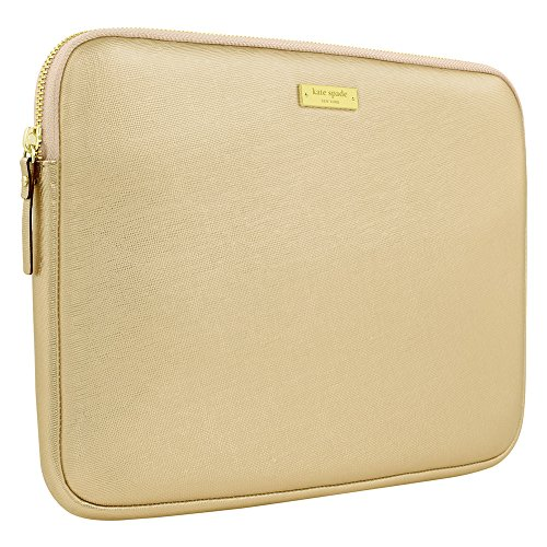 Kate Spade Saffiano Sleeve for Surface Pro 3 (Metallic Gold) (Kate Spade Macbook Pro 13 Inch Case)