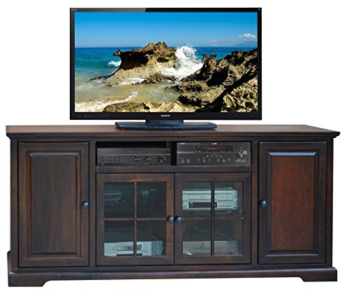 Legends Brentwood 78 in. TV Console - Danish Cherry (78 Inch Tv Console)