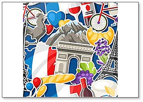 Imán para nevera con varios iconos de Francia: Amazon.es: Hogar