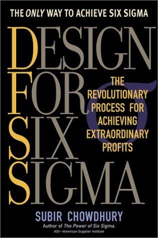 Design for Six Sigma by Subir Chowdhury (2002-04-17) thumbnail