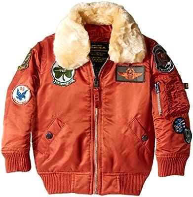 698009c0f Alpha Industries Big Boys N-3B Maverick Coat, Rust, Large/14-16 ...