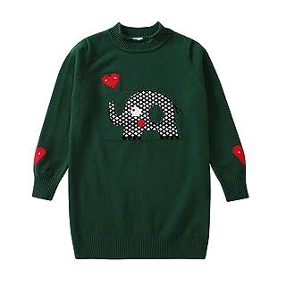 OUSLIN Children Girls Kids Long Sleeves Elephant Sweater Blouse Outerwear