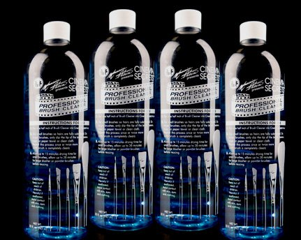 4 New Cinema Secrets 32oz Brush Cleaner Bottles