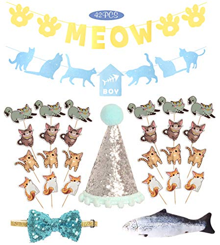 Cat Birthday Party Supplies | Kitty Kitten Birthday Party Supplies Decorations...