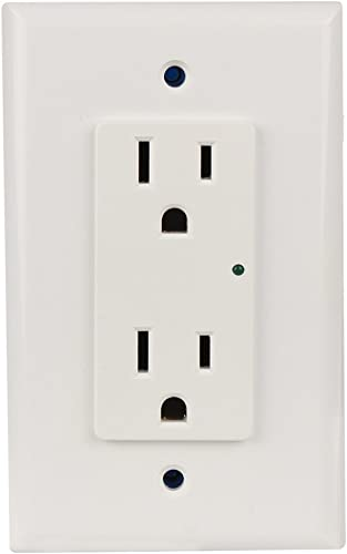 Element-Hz Power Series In-Wall Single Gang Surge Protector w Retrofit Backbox, 1800 Joules, White