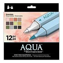 Aqua Markers by Spectrum Noir 12 Piece Essential Markers