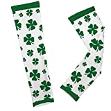 Gone For a Run Printed Arm Sleeves Lucky Clover