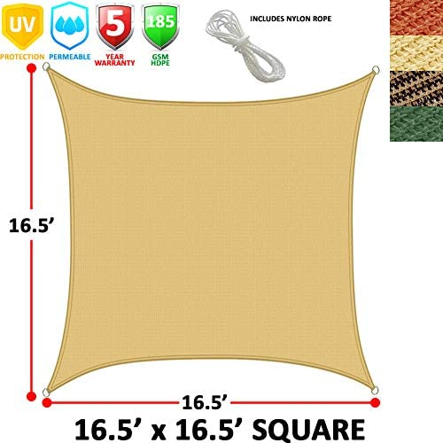 Modern Home Sail Shade Square 16.5 Sides