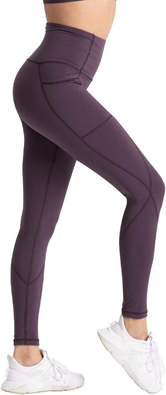 coastal rose Womens Yoga Pants 7//8 High Waist Workout Leggings Tummy Control Sports Tights Back Interior Pocket