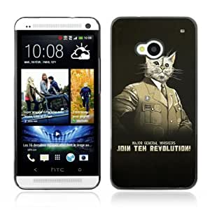 Designer Depo Hard Protection Case for HTC One M7 / General Whiskers Cat