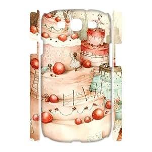 LSQDIY(R) Layered Cake Samsung Galaxy S3 I9300 3D Phone Case, Cheap Samsung Galaxy S3 I9300 Hard Back 3D Case Layered Cake